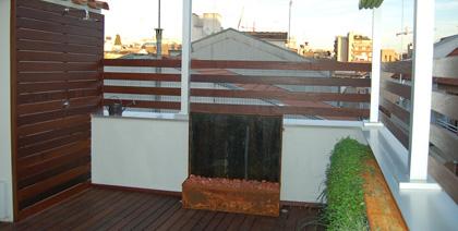 Una terraza en el casco antiguo de Granollers