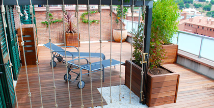Terraza en Tiana. Barcelona
